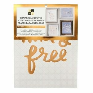 DCWV Frameable Quotes Cardstock